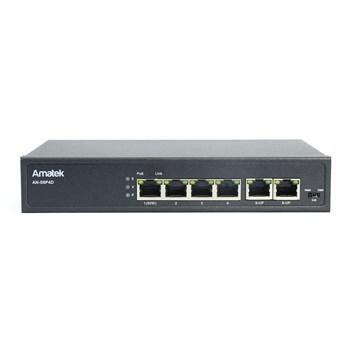 AN-S6P4D - 6-портовый 100 Мбит/с коммутатор с HiPoE до 65Вт - фото 7035